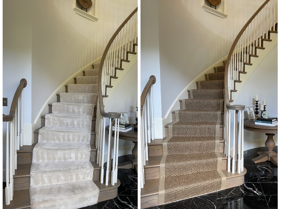 Before & After Transformation: Sisal Stair Runner