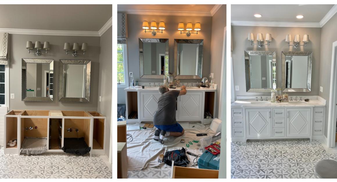 Bathroom transformation: Custom Made Vanity